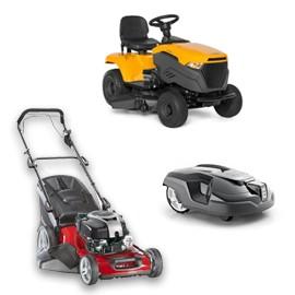 Kosiarki, traktorki, roboty